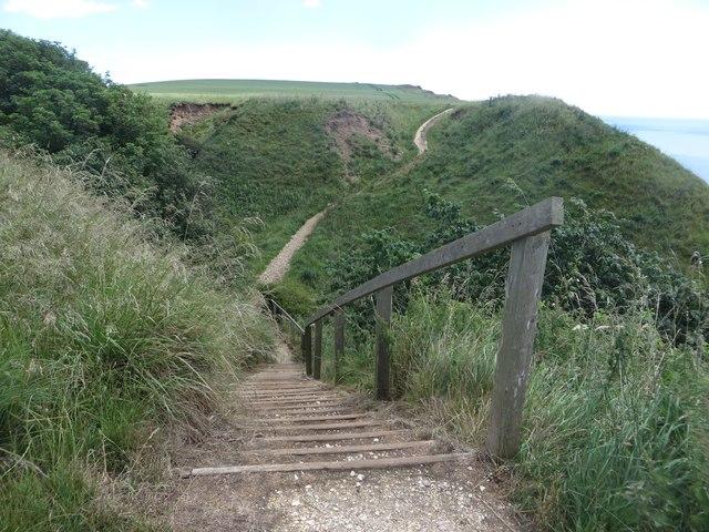 Steps at Hartendale Crag