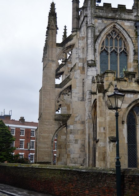 Flying buttresses, Church of St Mary