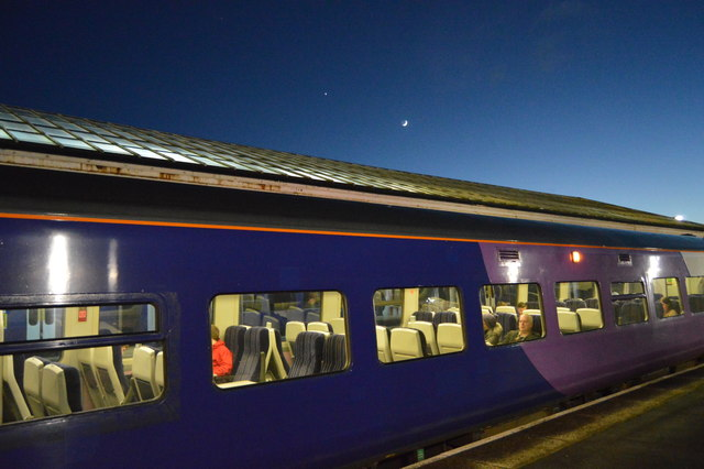 Moon over the Scarborough train