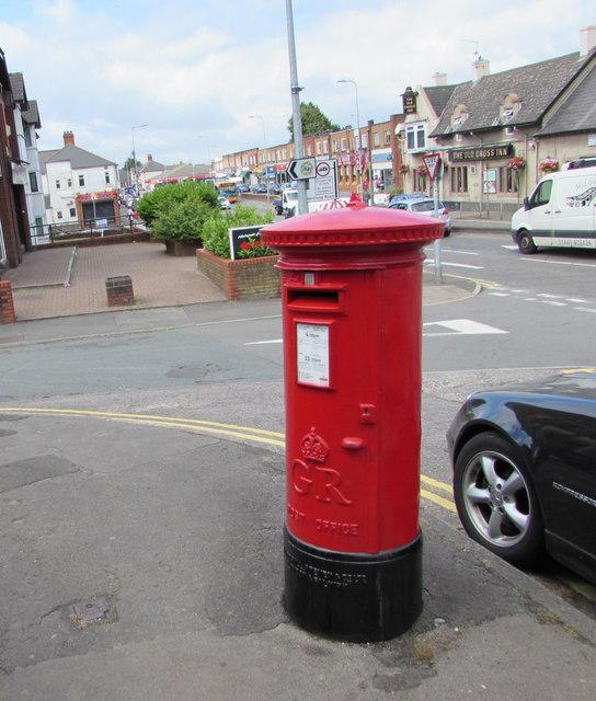 King George V pillarbox on a Rumney corner,  Cardiff