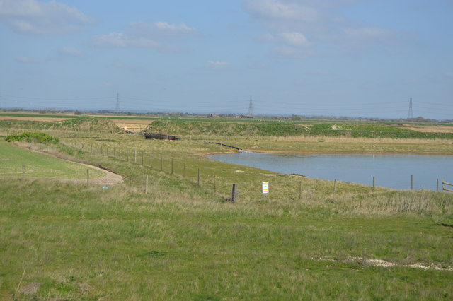 Gravel pit and grass