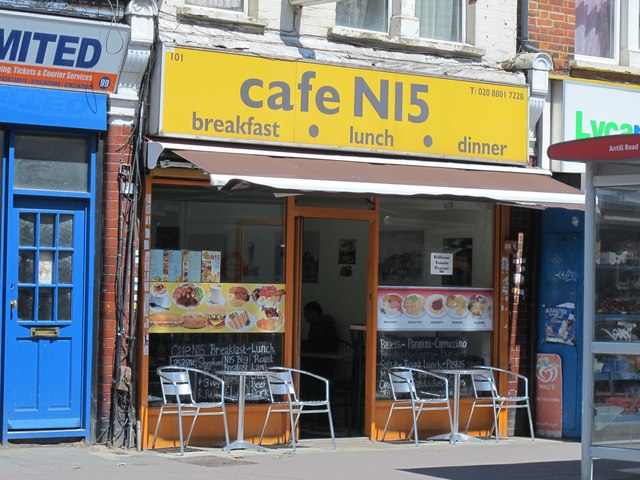 cafe N15, Broad Lane, N15