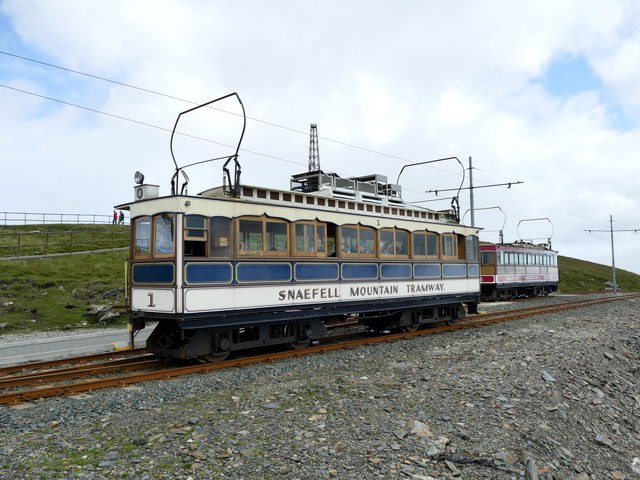 Car 1 on the Snaefell Mountain Tramway