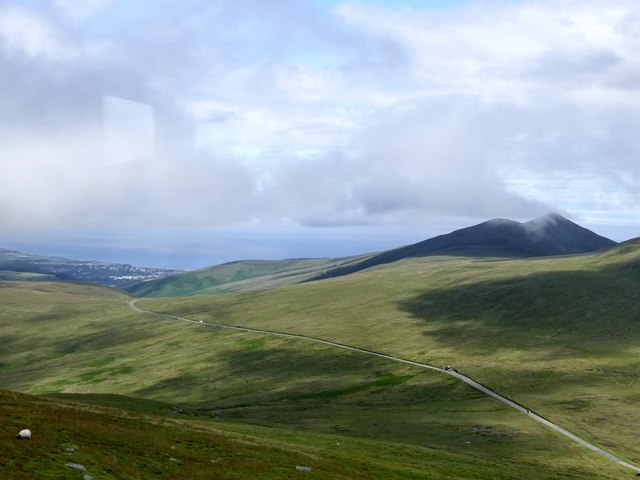 View from the Snaefell Mountain Railway