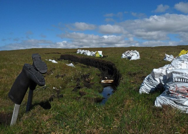 Peat cutting, Tom a' Charstoir, Isle of Lewis