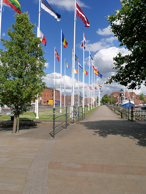 European Flags at Hull Marina
