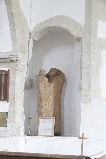 Carving in the alcove