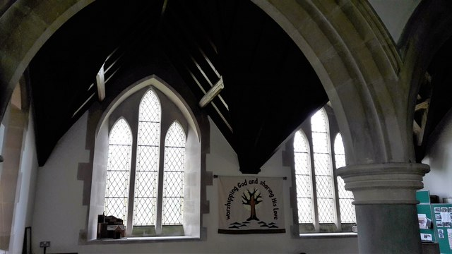 North aisle in All Saints, Kemble
