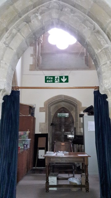 View into the north chapel in All Saints, Kemble