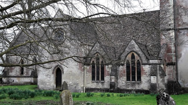 North side of All Saints, Kemble