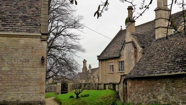 Churchyard view, Kemble