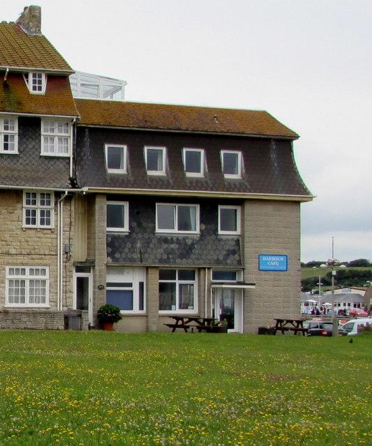 East side of Harbour Cafe, West Bay, Dorset