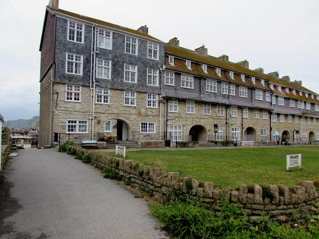 Grade II listed Pier Terrace, West Bay, Dorset