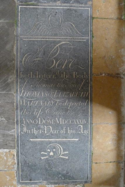 A Belvoir Angel ? Church of St Peter, Stonesby