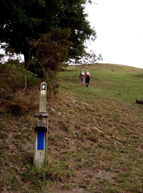 Walkers on Offa's Dyke Path