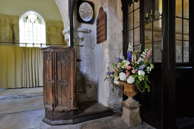 Stanton, St. Michael's Church: The c.1375 Gothic pulpit now used as a lectern