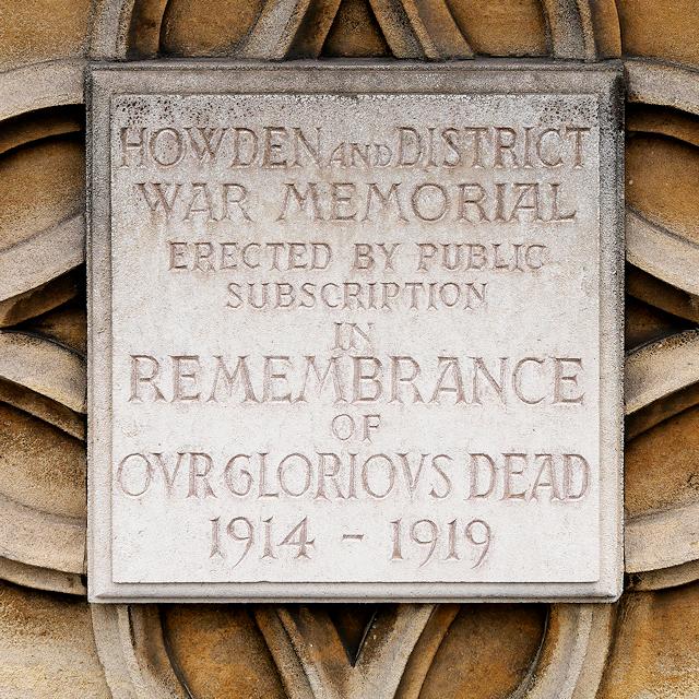 Howden and District War Memorial Dedication
