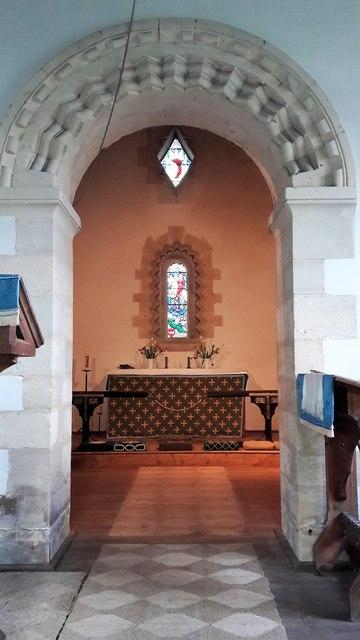 Into the chancel, St Osmund, Tarlton