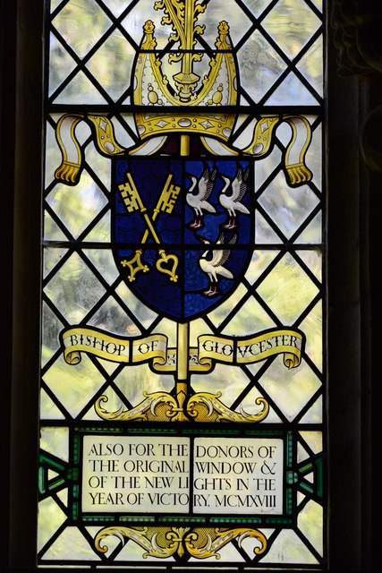 Stanton, St. Michael's Church: Stained glass window: Bishop of Gloucester