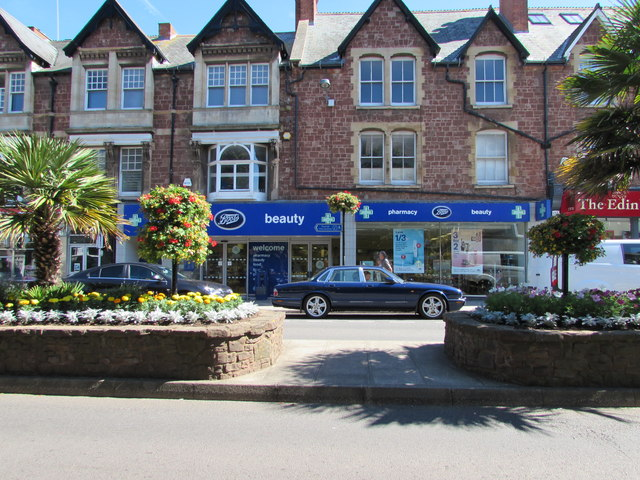 Boots pharmacy and shop in Minehead town centre