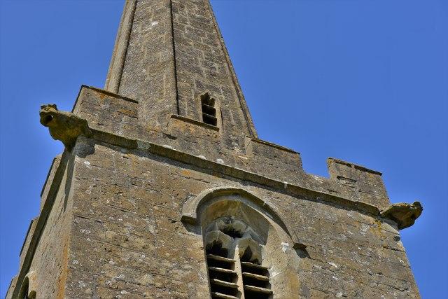Stanton, St. Michael's Church: Gargoyles on the tower