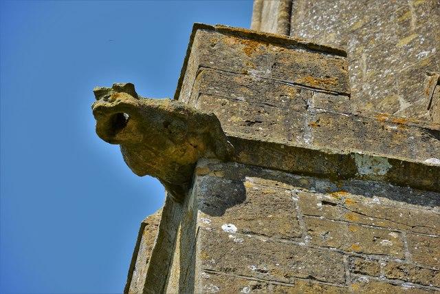 Stanton, St. Michael's Church: Gargoyle on the tower