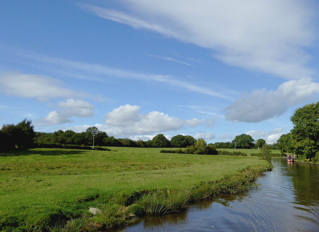 Canalside pasture north of Rhoswiel, Shropshire