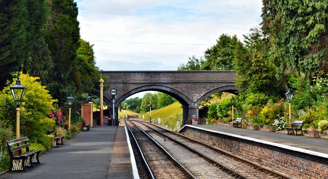Toddington station, looking North