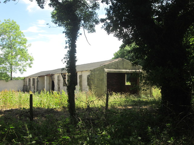 Disused building on the former airfield