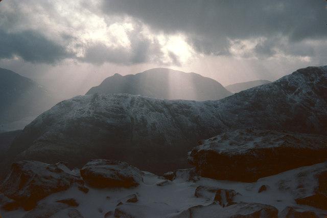 Beinn Fhionnlaidh from summit of Sgurr na h-Ulaidh