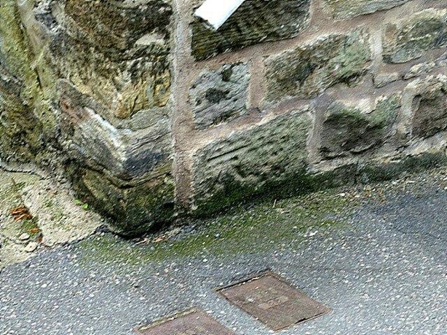 Bench mark, High Pavement, Belper