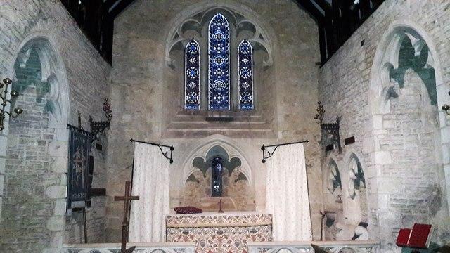 Chancel at St Mary, Edgeworth