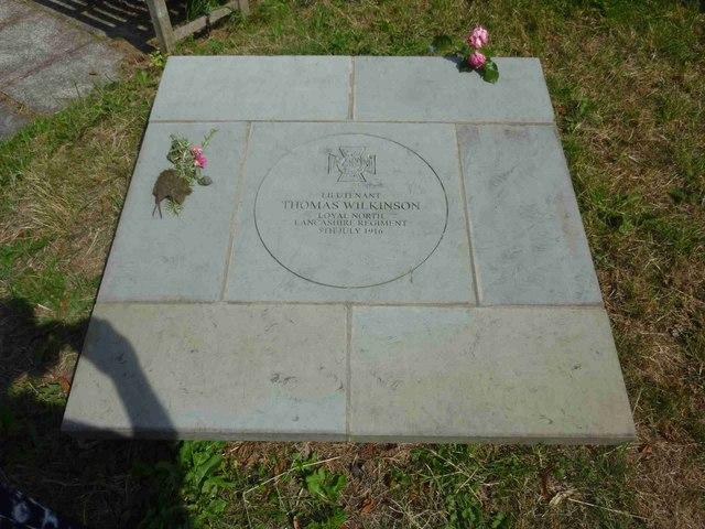 Memorial to Lieutenant Thomas Wilkinson