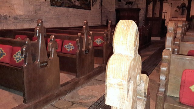 Nave bench ends in St Mary's, Edgeworth