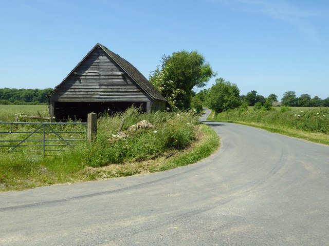 Shed beside a road junction