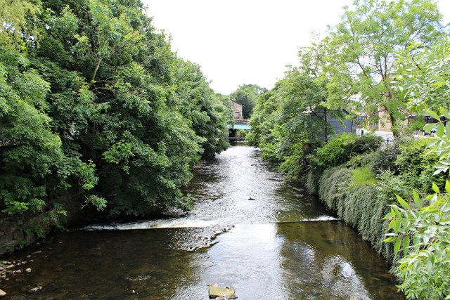 Small weir on River Irwell
