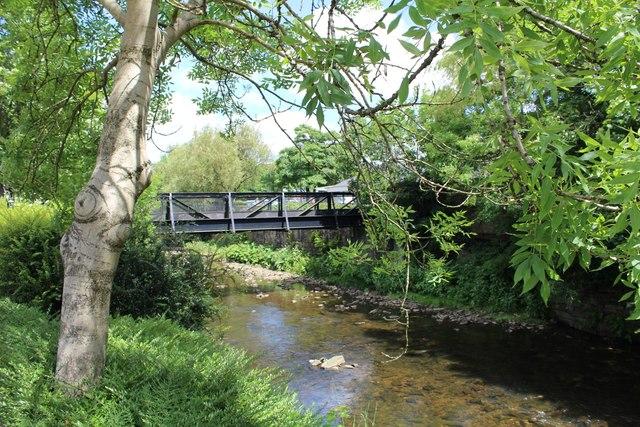 Footbridge across River Irwell