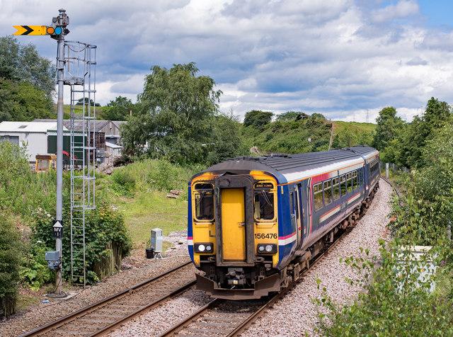 156476 entering Brampton station - July 2017