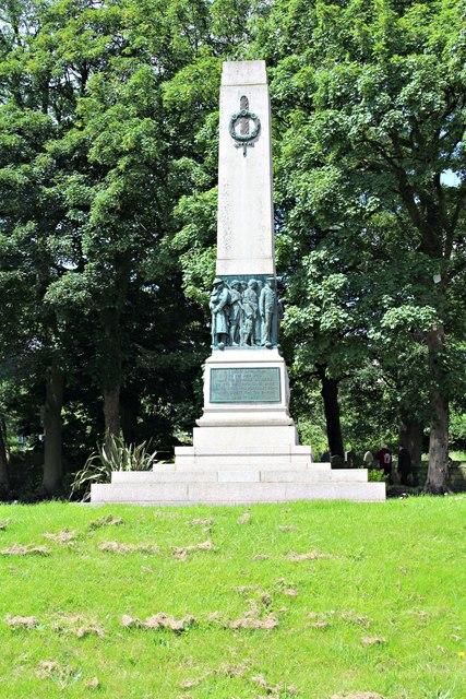 War memorial, St Mary's Way, Rawtenstall
