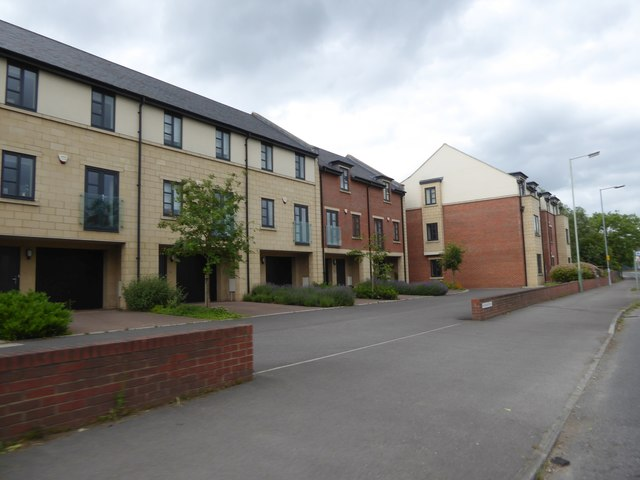 Newly built townhouses, Cockhill, Trowbridge
