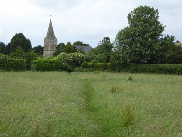 Footpath to Hilperton church