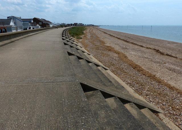 Sea defences at North Beach Heacham