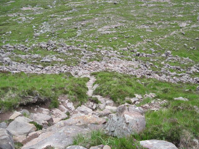 Path on hillside of Na Rathanan