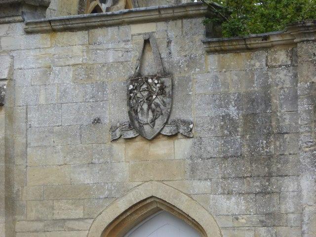 Crest on Rodwell Lodge, Victoria Road, Trowbridge