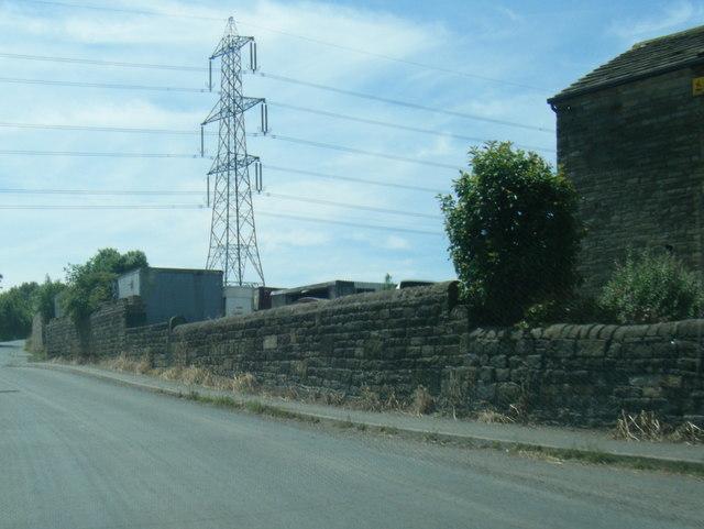 Wyke Lane and pylon