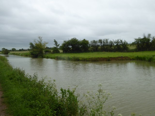 Where the canal has a small bay