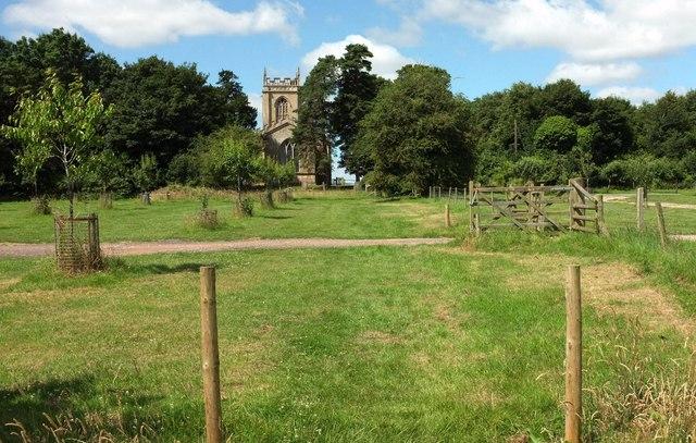 Path to the church, Croome