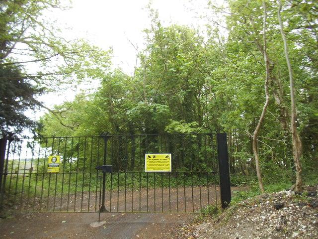 The entrance to Critten Farm on Beech Avenue