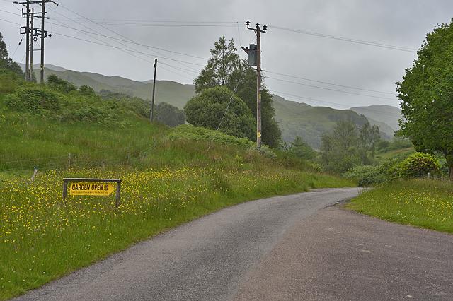 Road near Barguillean