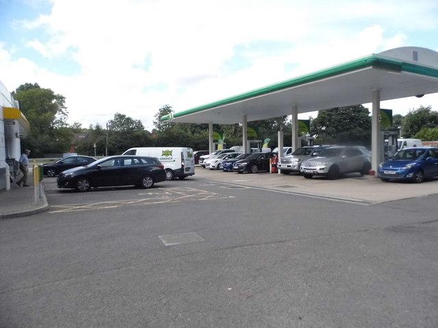 BP petrol station on the Farnham Bypass
